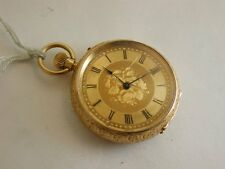 Late Victorian Solid 18ct Heavy Gold Very Ornate Pocket Watch - Stunning
