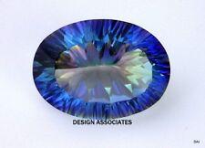 20X15 MM CONCAVE OVAL  CUT MYSTIC SAPPHIRE BLUE TOPAZ  NATURAL GEMSTONE  AAA