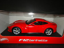 Hot Wheels Ferrari F12 Berlinetta Red BCJ72 1/18