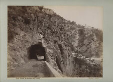 ROAD FROM SORRENTO TO AMALFI, SOMMER NAPOLI, VINTAGE PHOTO ON PERIOD BOARD
