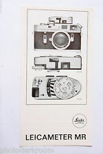 Leica Meter MR Sales Brochure Pamphlet - English - USED B2