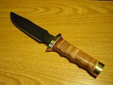 Viet Nam Tactical Survival Fixed Blade Knife- New in Box with Leather Sheath