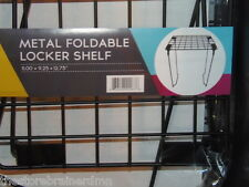 "METAL FOLDABLE LOCKER SHELF - 11x9.25x12,75""  - BLACK     (BBLK-24)"