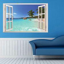3D Falsche Fenster Seaside Wandaufkleber Wandtattoo Haus Dekor Zimmer Sticker MI