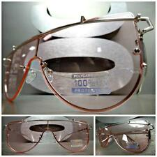 New SPACE ROBOT FUTURISTIC CYBER CYCLOPS SHIELD PARTY SUN GLASSES Pink Flat Lens