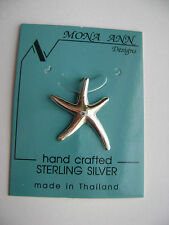 Sterling Silver Small Starfish Pendant New
