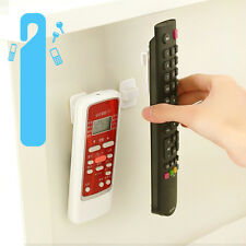 White ABS TV Remote Control Organizer Storage Stand Holder Hook Control Seat New
