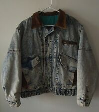 Vintage 90's Acid Washed Urban Equipment Insulated Denim Jacket Lg
