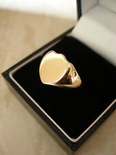 GENTS 9 CARAT ROSE GOLD SIGNET / DRESS RING MADE IN ENGLAND SOLID HEAD BEAUTIFUL