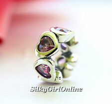 Authentic Pandora Sterling Silver Pink Space In My Heart Spacer   791252CZS