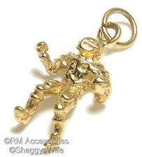 Football Player Charm Pendant EP 24k Gold Plated with a Lifetime Guarantee