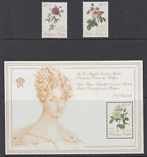 BELGIUM : 1988 Roses for a Queen series 1 pair +M/Sheet SG 2943-4+MS2945 MNH