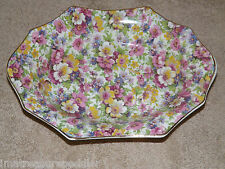 James Kent England DuBarry Floral Chintz Longton Oval Bowl 8 3/4""