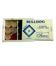 Surco Bulldog Wooden Pieces Carrom Board Coins Set