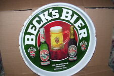 Vintage Beck's Bier #1 German Import Beer Serving Tray