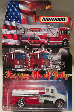 "Matchbox CUSTOM FIRE TRUCK ""Happy 4th Of July"" Real Riders Limited 1/25 Made !!!"