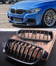2x Individual Design CARBON EFFECT Kidney Grills for BMW F30 F31 3 Series 11 on