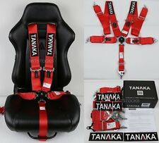 "1 TANAKA RED 5 POINT CAMLOCK RACING SEAT BELT HARNESS 3"" SFI 16.1 CERTIFIED"