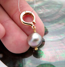 AAA 18K GOLD SEA OF CORTEZ RAINBOW CULTURED PEARL ENHANCER PENDANT 10x10.5mm