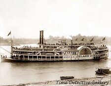 """Coney Island Queen"" Riverboat, Cincinnati, OH - 1906 - Historic Photo Print"