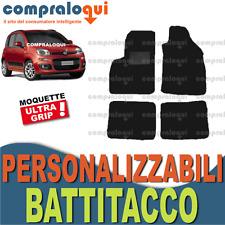 per FIAT PANDA 2012  TAPPETINI AUTO MOQUETTE NERA GRIGIA ANTRACITE + BATTITACCO