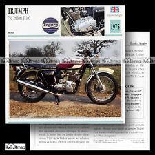#005.04 TRIUMPH 750 TRIDENT T160 Modèle 1975 1970's Fiche Moto Motorcycle Card