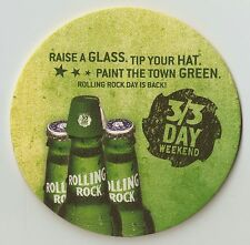 12 Rolling Rock  Paint The Town Green  3/3 Day Weekend  Beer Coasters