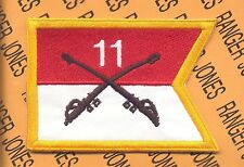 """US Army 11th Cavalry Regiment ACR Armored & Tank 4"""" guidon pocket patch"""
