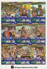 2003 AFL Teamcoach Trading Card Blue Prize Platinum Team Set Fremantle (9)