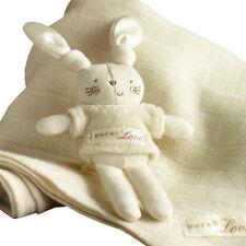 Bio Baby Stoff Windel Musselin Tuch Baumwolle Spucktuch Hase Natures Purest neu