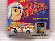 SPEED RACER 2000 CHEVY MONTE CARLO STOCK CAR WHITE #5 JOHNNY LIGHTNING