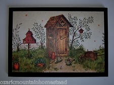 Outhouse Garden Shed Plaque country rustic bathroom wall sign primitive bath