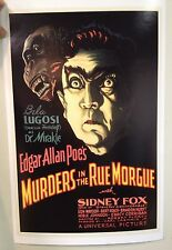 Murders In The Rue Morgue Poster Print Edgar Allan Poe Bella Lugosi Horror