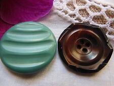 Duo boutons anciens en corozo diamètre: 2,5 cm D19A