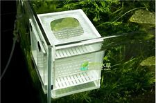 Dual Soft Net Breeder Aquarium Fish Tank Breeding Hatchery Partition Case Kit