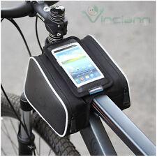 Borsa 3 scomparti per bicicletta bici porta cellulare per HTC One M7 M8 mini H10