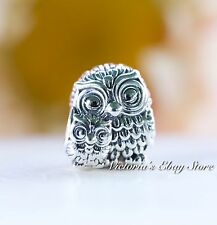 Authentic Pandora Sterling Silver Charming Owls 791966