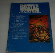 1985 TSR Inc. BATTLE SYSTEM FANTASY COMBAT SUPPLEMENT Guide Book First Printing