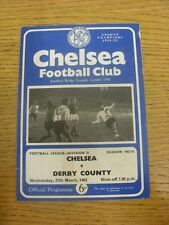 27/03/1963 Chelsea v Derby County  (Light Crease/Marks).  Any faults with this i