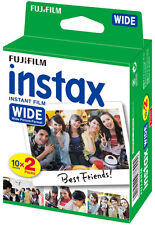 2 Fuji Instax 210/300 Instant Wide Color Print Film twin pk 40 shots Exp 08/2017