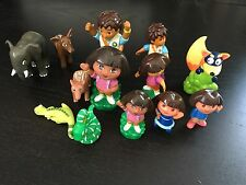 Dora Figures Diego Swiper Animals Replacements Extras LOT of 13