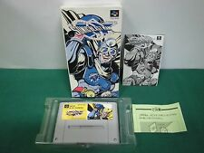 SNES -- SONIC BLAST MAN -- Box, Action, Super famicom, Japan, work fully. 12923