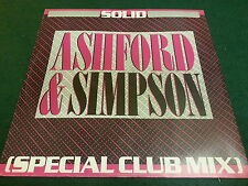 "80's Vinyl 12"" Single Ashford & Simpson ‎– Solid (Special Club Mix) VG+ CHKpics"