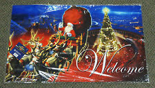 "LIONEL THE POLAR EXPRESS ""SANTA IN SLEIGH"" WELCOME MAT christmas door 9-33068"