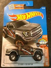 2016 Hot Wheels CUSTOM Super '17 Ford F-150 Raptor with Real Riders L Case