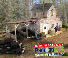 B Smith Coal & Ice by Railroad Kits - HO Scale Craftsman Structure - BEST VALUE!