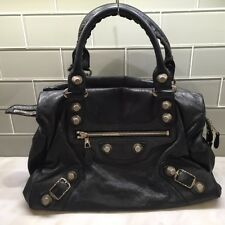 BALENCIAGA LEATHER MIDDAY GIANT STUDS HANDBAG (DISCONTINUED) AUTHENTIC