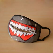 Fashion Zipper Anti-Dust Face Mask Cycling Protector Cosplay Tokyo Ghoul Cotton