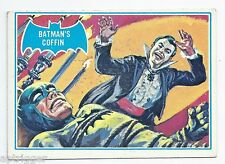 1966 Topps Batman Blue Bat with Bat Cowl Back (13B) Batman's Coffin