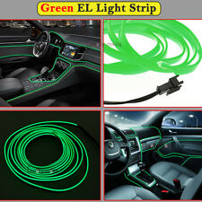 2M Green EL Wire Interior Decor Fluorescent Neon Cold Strip light Fit Chrysler